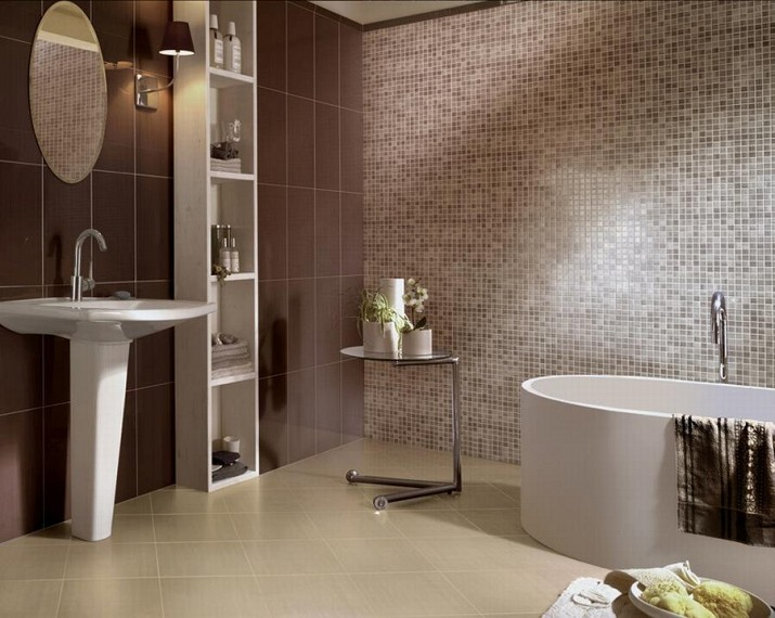 Bagno Mosaico Marrone Oro ~ Design Per La Casa & Idee Per Interni