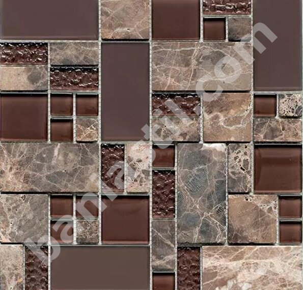 Мозайка Glass & Stone Mix Brown - YURTBAY SERAMIK