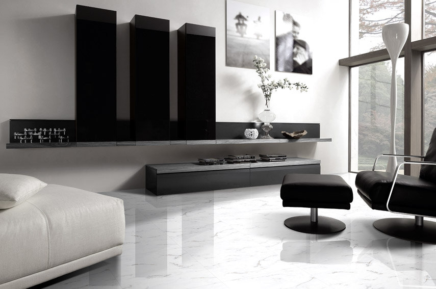 Гланциран гранитогрес Statuario Brillo Ibero