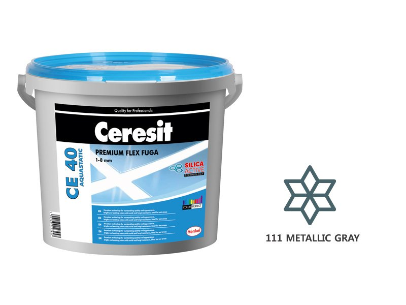 Фугираща смес CE 40 Metallic Gray 111 - 2кг - Ceresit